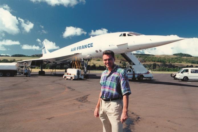 Jean-Maurice Ravon, directeur de TMR, sur l'Île de Pâques. Il y a 30 ans, les premiers tours du monde s'effectuaient en Concorde - DR : TMR