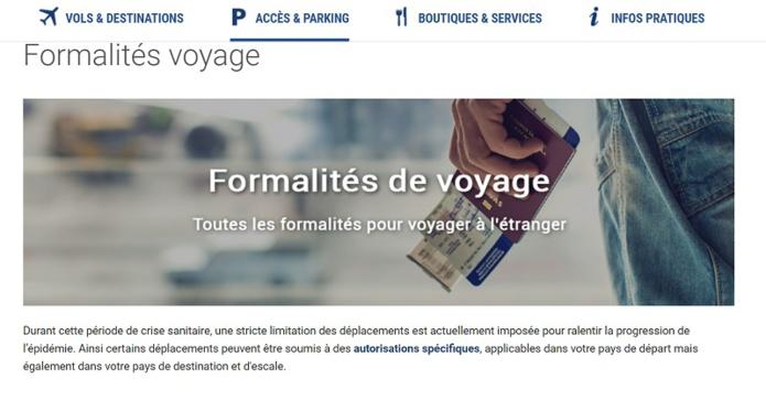 Objectif : connaître les conditions de voyage à l'étranger en un clic - Capture écran