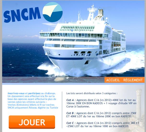 Le Challenge de ventes organisé par la SNCM - DR