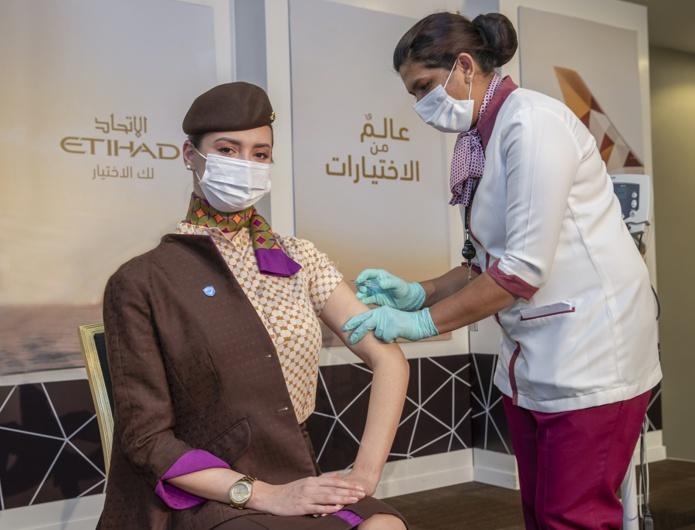 Plus de 75% des salariés d'Etihad ont reçu au moins une dose du vaccin - DR