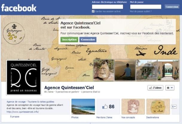 Depuis le 5 avril 2013, Quintessen'Ciel lance une devinette sur sa page Facebook chaque vendredi - Capture d'écran