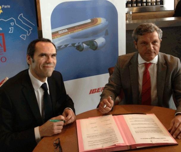 Iberia a signé un accord de partenariat partenariat avec la Chambre de Commerce franco-espagnole qui regroupe 300 entreprises, soit environ 15 000 collaborateurs... - Photo GB