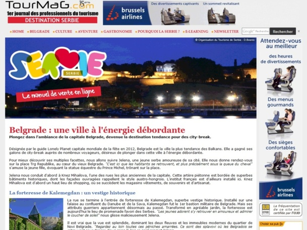 Le nouveau manuel de vente en ligne Serbie.