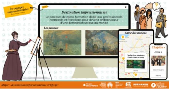 8 leçons de 10 minutes sont accessibles pour devenir incollable sur la Normandie Impressionniste - DR