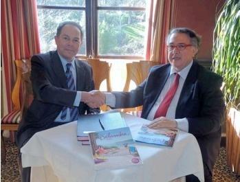 Olivier Colcombet, Président de Belambra, et Bernard Amsalem, Président de la FFA - Photo DR