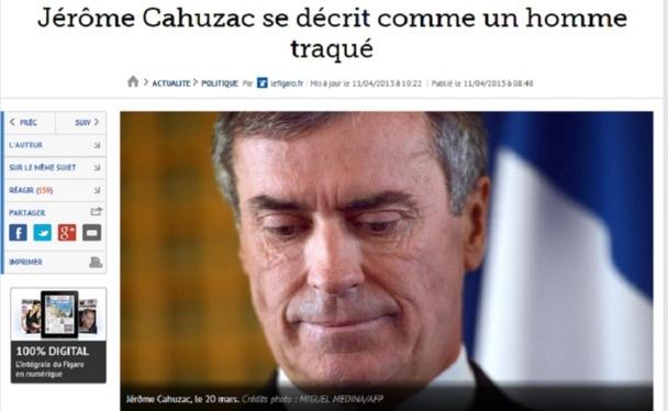 Sur l'affaire Cahuzac, chaque jour qui passe apportant une nouvelle rumeur chassant celle de la veille ! - Capture d'écran LeFigaro.fr