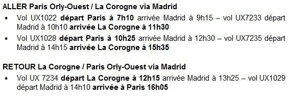 Air Europa : vols Paris-La Corogne via Madrid dès le 3 juin 2013