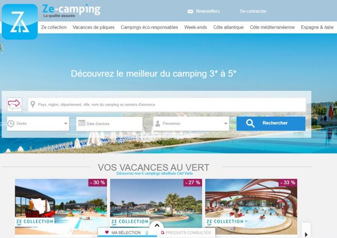 Ze-camping propose un catalogue de 61 campings - DR