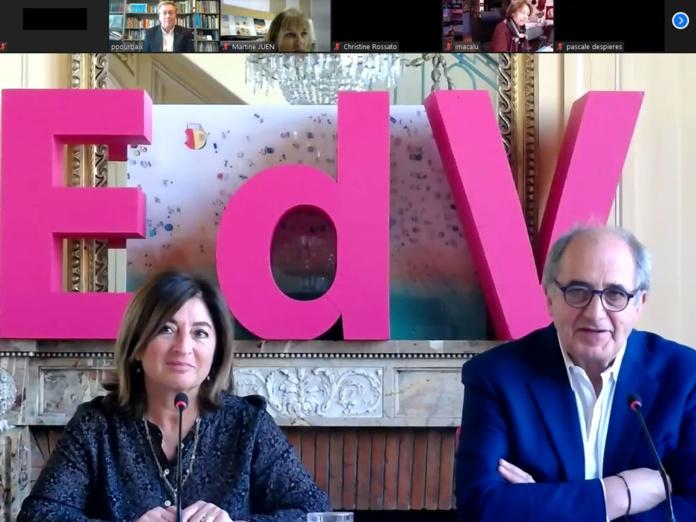 Valérie Boned et Jean-Pierre Mas respectivement Secrétaire générale et Président des EDV - DR
