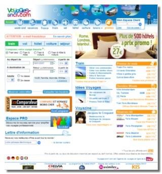 Voyages-sncf.com réalisé désormais 22% des ventes de la SNCF !