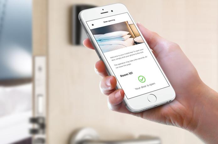 LoungeUp permet désormais aux hôteliers de proposer une expérience client sans clé de chambre physique - DR