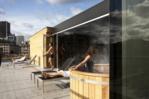 Le Bota Bota, un spa-sur-l'eau, a ouvert en 2010 dans le Vieux Port de Montréal. © Corinne Fortier