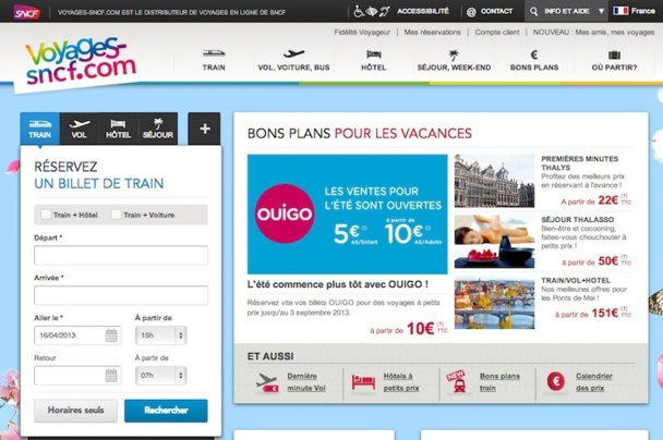 Voyages Sncf Calendrier.Voyages Sncf Com Affiche Ses Ambitions Europeennes