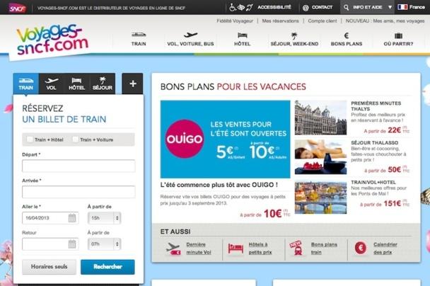 Le site de Voyages-sncf.com va être décliné en 13 versions locales, afin de partir à l'assaut du marché européen. DR
