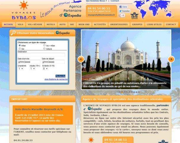 Le site Internet de Voyages Byblos a intégré les widgets Expedia - DR