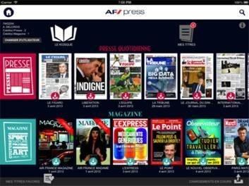 L'application AF Press d'Air France permet de télécharger les titres dès 24 heures avant l'heure de départ du vol - DR