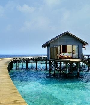 Les villas du Centara Ras Fushi Resort & Spa Maldives sont intégrées au paysage - Photo DR