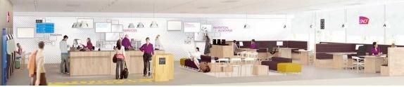 Les nouvelles boutiques de la SNCF permettent un accueil plus personnalisé et une information plus rapide pour les visiteurs - Photo DR