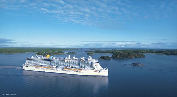 Le Costa Smeralda, le navire au combustible propre