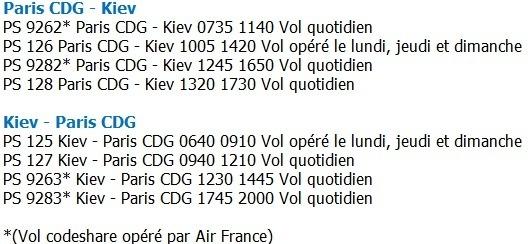UIA ajoute une rotation sur la liaison entre Paris et Kiev