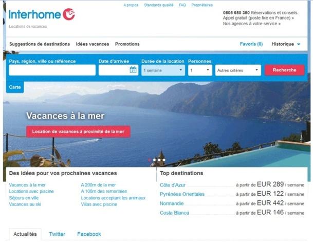 Le nouveau site web d'Interhome - Dr