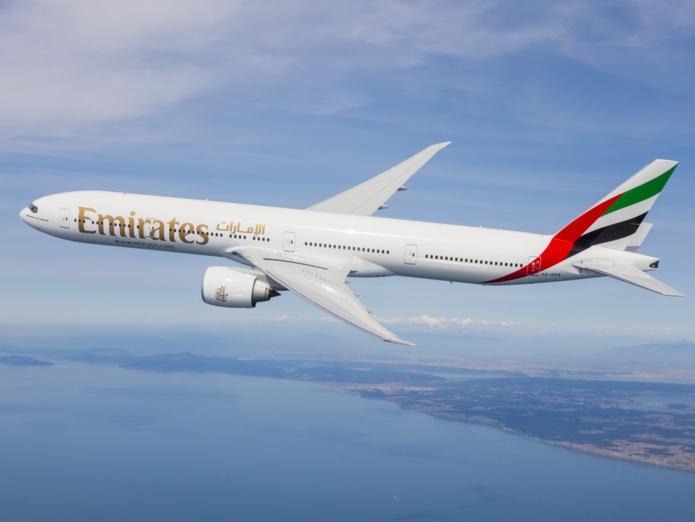 [Du 28 mars au 30 octobre 2021, les vols Emirates entre Dubaï et Mahé passent de cinq à sept rotations par semaine, opérés en Boeing 777-300ER /crédit Emirates