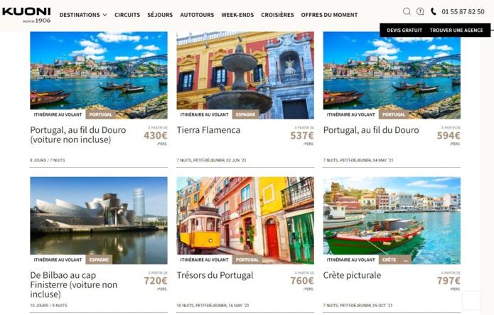 La nouvelle production Europe du Sud est accessible en ligne pour les agences de voyages - DR