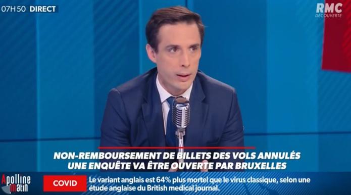 Le cabinet de Jean-Baptiste Djebbari nous a répondu suite à l'interview sur RMC - Capture écran