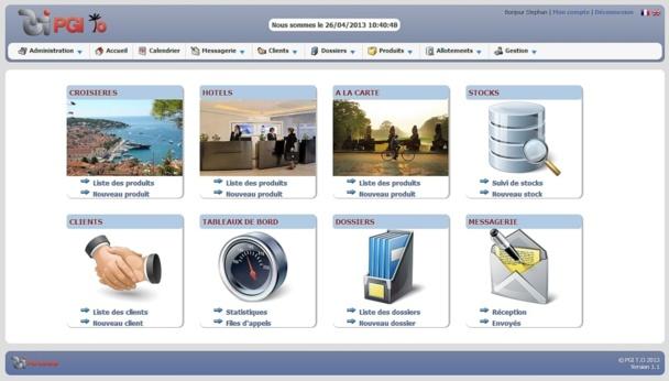 L'interface utilisateur de PGI TO permet à tous les services de l'entreprise de gérer leur activité.