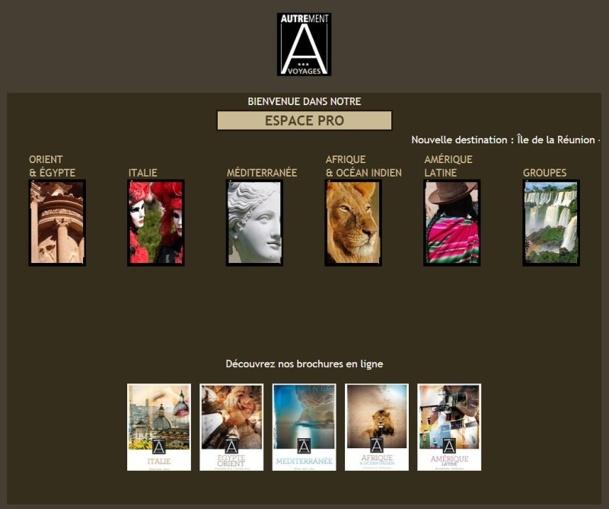Selectour Afat a référencé Autrement Voyages dans son Top 14 2013/2015, mais deux mois plus tard, le TO est en grande difficulté financière - Capture d'écran