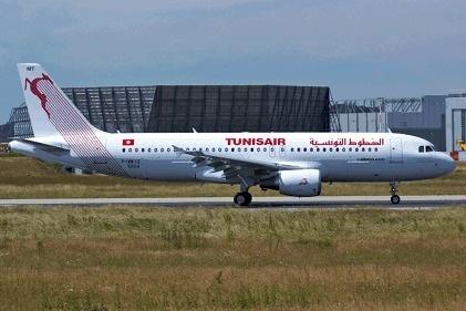 Tunisair réceptionne son nouvel A320 mardi 30 avril 2013 à l'aéroport de Tunis-Carthage - Photo DR
