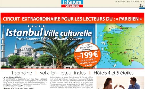 Circuit pour les lecteurs du Parisien, proposé par Cigale Voyages. DR