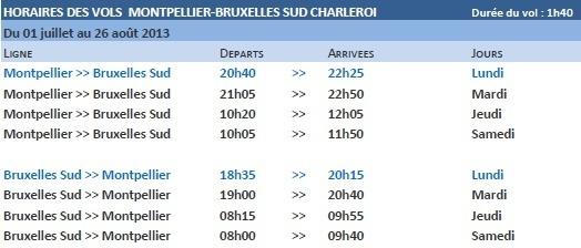 Ryanair ajoute une fréquence, chaque lundi, entre Montpellier et Bruxelles