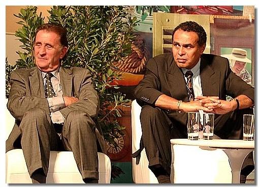 Léon Bertrand et Jean-Michel Couve, lors d'une édition des Rencontres du Tourisme à St Tropez...