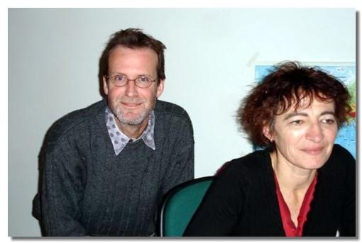 Philippe Marais, directeur de Saïga, et une collaboratrice
