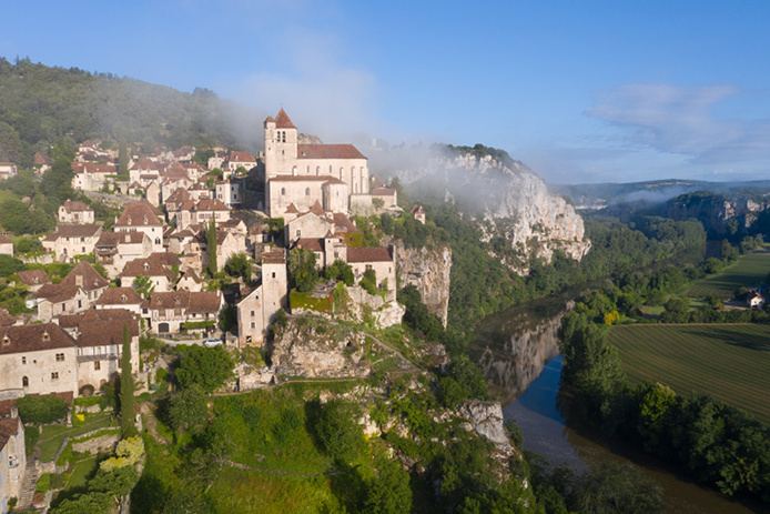 © Cyril Novello - Vue aérienne de Saint-Cirq-Lapopie