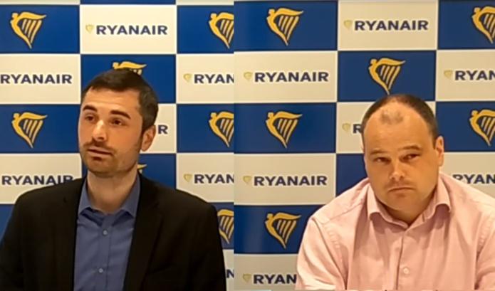 Julien Tranchant, directeur markeing France et Dara Brady, Directeur Marketing de Ryanair