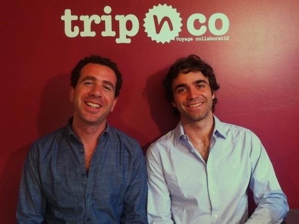 Ouriel Darmon et Damien Angeli, les deux co-fondateurs du site TripnCo, lauréat de la 1ère édition des Talents du CERED - DR