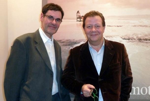 Olivier Glasberg, le directeur de la production Emotions, avec Emmanuel Foiry lors du 20e anniversaire de la marque en 2011 /photo dr