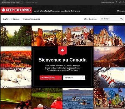 Le contenu du nouveau site s'adapte automatiquement à l'écran du visiteur - Capture d'écran