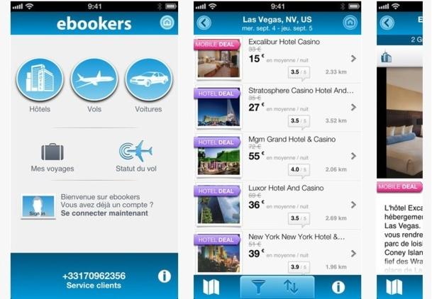 ebookers : « aucune appli n'existait pour réserver les 3 principales composantes d'un séjour, Vol, Hôtel et Location de voiture sur son smartphone et sa tablette… jusqu'à aujourd'hui... ».