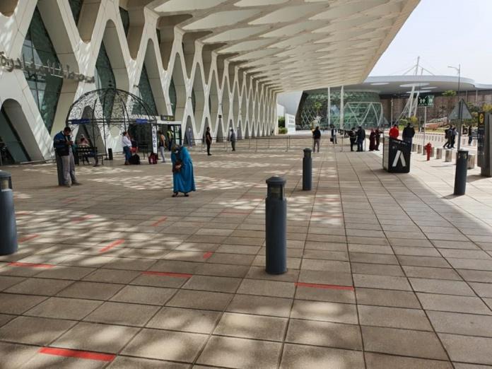 L'Aéroport de Marrakech, ce mardi 30 mars 2021, loin de l'agitation qui avait fait la une des journaux en mars 2020 - Crédit photo : Raouf Benslimane