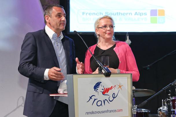Corinne Foulquier, Directeur Atout France Autriche et Europe Centrale et Bruno James, directeur CRT PACA - DR