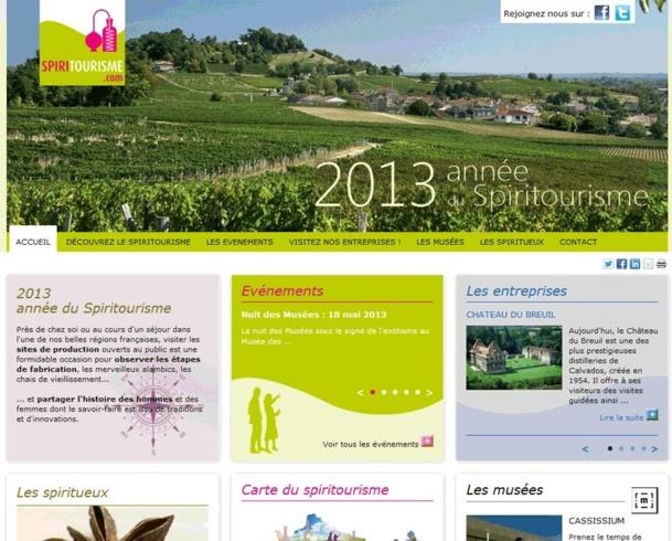 Le site web lancé par Fédération Française des Spiritueux - Capture écran