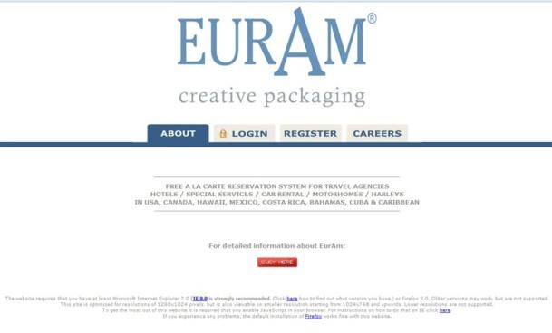 """Le nouveau site d'Euram """"sera bien plus facile à utiliser, plus intuitif, et il ne sera donc plus nécessaire de suivre une formation pour apprendre à l'utiliser"""", selon Serge d'Albrand, Directeur Commercial France d'EurAm - Capture Ecran"""
