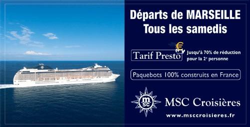 MSC Croisières : nouvelle campagne publicitaire à Marseille et Neuilly