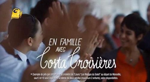 Deux spots TV de 15 secondes vantant les circuits de Costa Croisières pour l'été 2013 sont diffusés sur de nombreuses chaînes TV en France à partir du 21 mai 2013 - DR