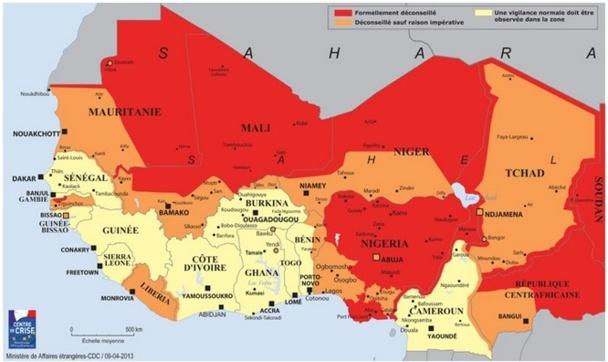 Le Quai d'Orsay met en garde les voyageurs français contre de forts risques d'attentats ou d'enlèvements au Sahel - DR