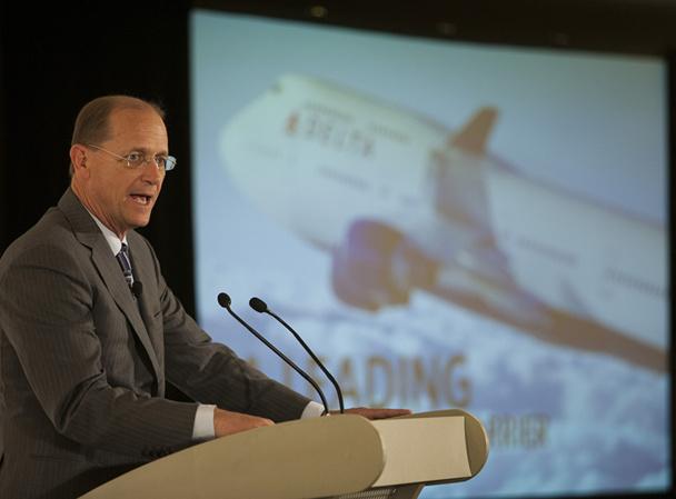 Pour Richard Anderson, le CEO de Delta Airlines, l'ouverture du T4 est l'une des dernières initiatives symboliques du renouveau de la compagnie dont l'ambition est désormais de devenir une « world company » - DR : Delta Airlines