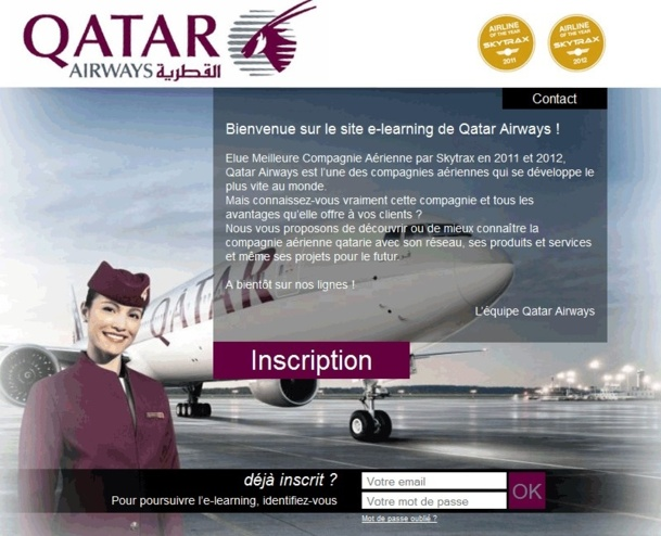 Le nouvel e-learning de Qatar Airways - DR